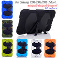 New Waterproof sujeira Shockproof Dropproof voltar Silicone suporte capa para Samsung Galaxy Tab 4 8.0 T330 T331 T335 Case + Stylus Pen