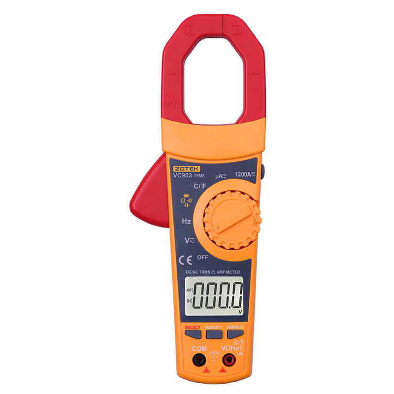 Digital Clamp Multimeter Auto Range Current AC/DC Voltage 6000 Counts True RMS Volt Amp Ohm HZ Temp Capacitance Tester Ammeters