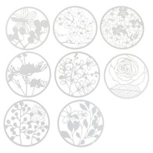 8Pcs Round Grilles Drawing Molds Plastic Children Painting Stencils