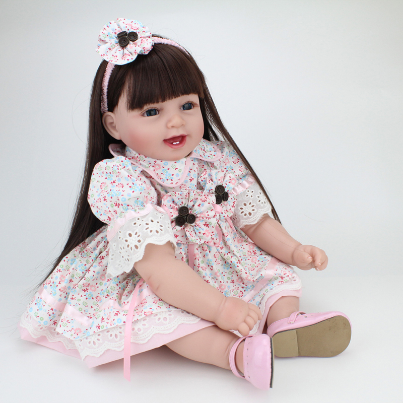 NPKDOLL 55CM New arrival cute Handmade silicone reborn  baby  girl  doll lifelike baby realistic vinyl toy gift for girl  Kid handmade chinese ancient doll tang beauty princess pingyang 1 6 bjd dolls 12 jointed doll toy for girl christmas gift brinquedo