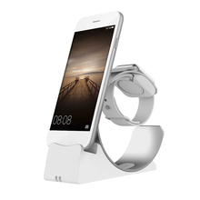 2 in 1 desk phone stand For iPhone X 8 7 Charging Dock station apple watch table Holder Charger base support