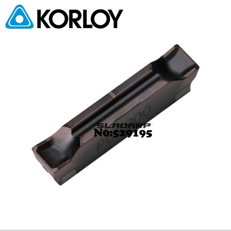 MGMN300-04-R PC5300 Two-headed Cnc Cutting Original Korloy Carbide Turning Insert MGMN400-04-R PC5300 MGMN500-04-R PC5300 Lathe