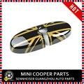 Brand new Ouro Jack estilo Plástico ABS UV Protegido de Ouro e cor preta interior espelho capa para mini cooper r56 (1 pçs/set)
