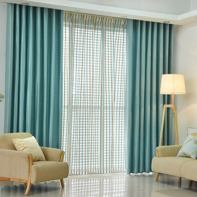 Napearl Plain Dyed Blackout Curtain Kitchen Door Window Curtains For Living Room Full Shade Panel Solid