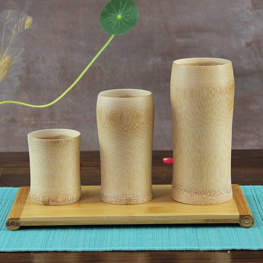 맥주 / 차 / 물 독창성 주문 로고 일본 작풍을위한 페인트 탄화물 컵없는 자연적인 대나무 차잔