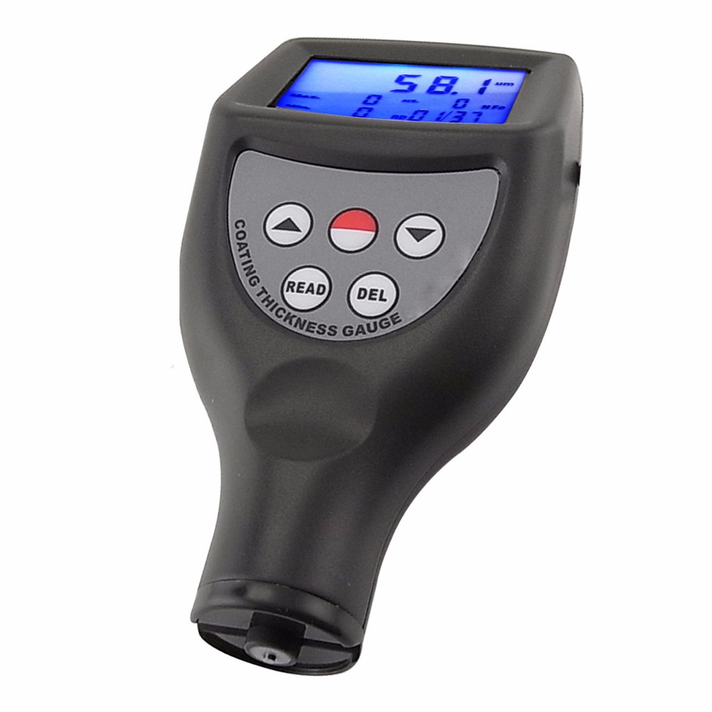 Paint Coating Thickness Gauge Meter Built-in F, Ferrous / NF, Non-Ferrous Probes 0-1250um / 0-50 mil Range non ferrous alloys