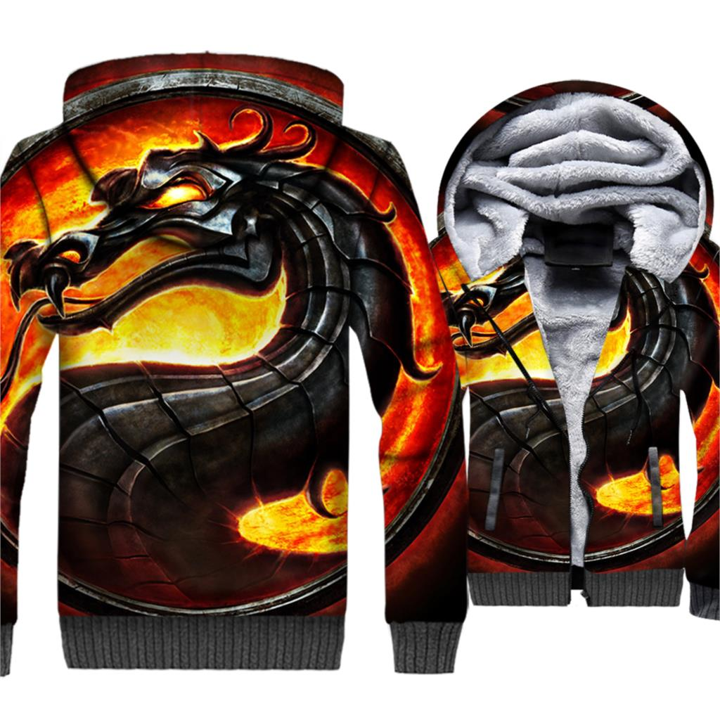 Game Of Thrones Hoodies House Dragon Print 3D Jackets Men 2019 Winter Warm Sweatshirts Hip Hop Streetwear Hoodie Hoody Coat Male in Hoodies amp Sweatshirts from Men 39 s Clothing