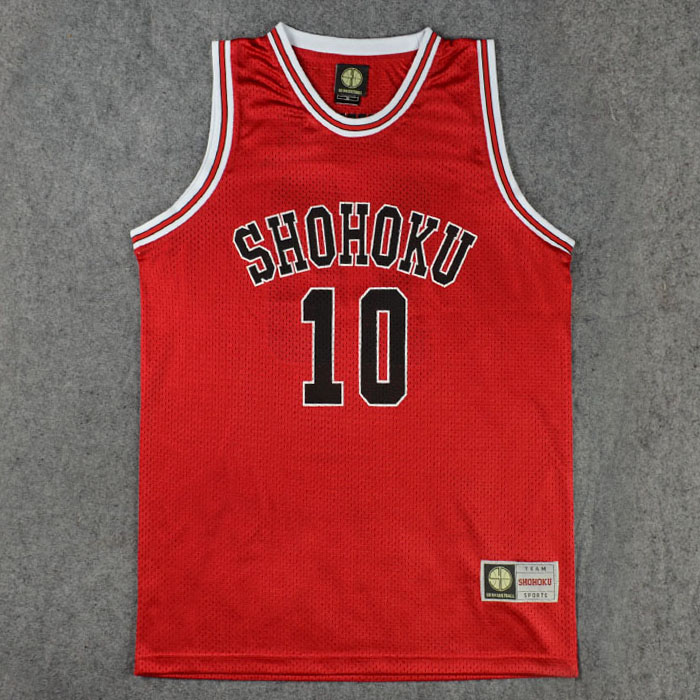 Shohoku School Basketball Team Sakuragi Hanamichi Jersey Tops Shirt Sports Wear Uniform Anime SLAM DUNK Jersey Cosplay Costume