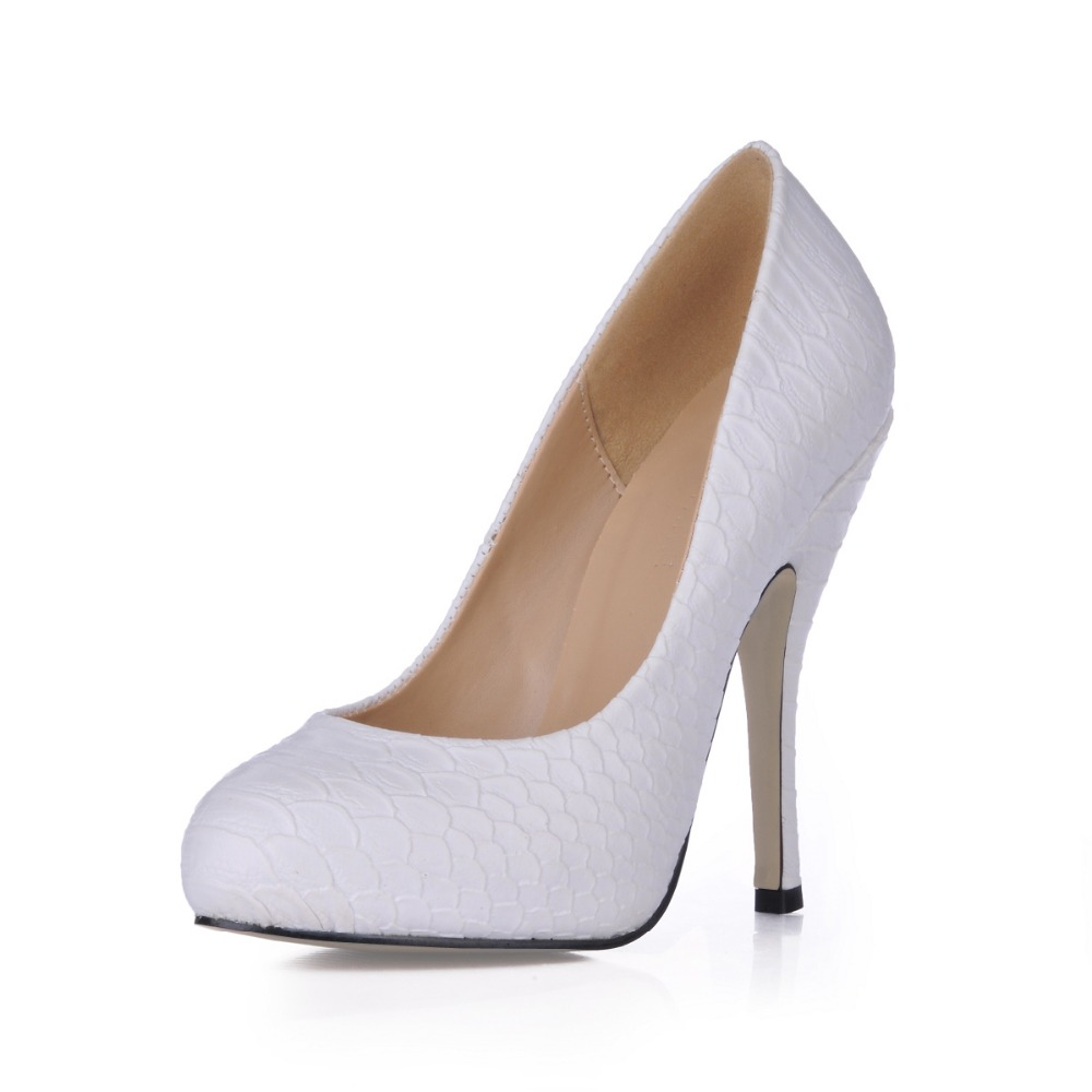 Fashion Women Round Toe Height Platform High Heels Shoes Snake PU Leather Sexy Pumps Nightclub Evening Party Prom Ladies Shoes taoffen women high heels shoes women thin heeled pumps round toe shoes women platform weeding party sexy footwear size 34 39