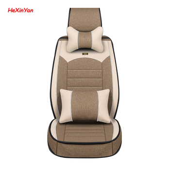HeXinYan Universal Flax Car Seat Covers for Dodge all models caliber ram caravan aittitude journey auto styling accessories
