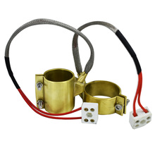 Custom 90W 30x25mm Brass Band Heater 30mm Inside Diameter 25mm Height Electric Extruder Heating Element