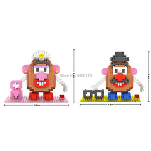 hot LegoINGlys creators mr potato head MS figures Micro diamond building blocks model nanoblock bricks toys for children gift