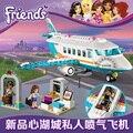 Amigos heartlake jet privado diy construcción ladrillo juguetes niñas regalo de navidad compatible legoes 41100