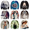 Youth popular high-quality boy baseball clothing 3D characters series printing Hip-Hop clothes Hooded sweater 12-18 years old
