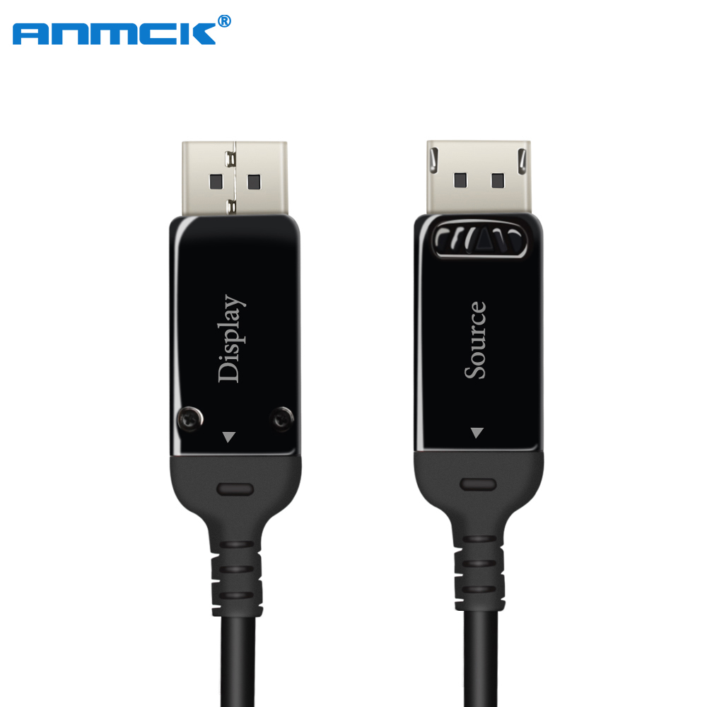Câble à Fiber optique Anmck DP à DP 1.4 3 m 5 m 10 m 20 m 50 m 8K @ 30Hz 4K @ 144Hz câbles DisplayPort 32.4 Gbps DisplayPort 1.4 câble