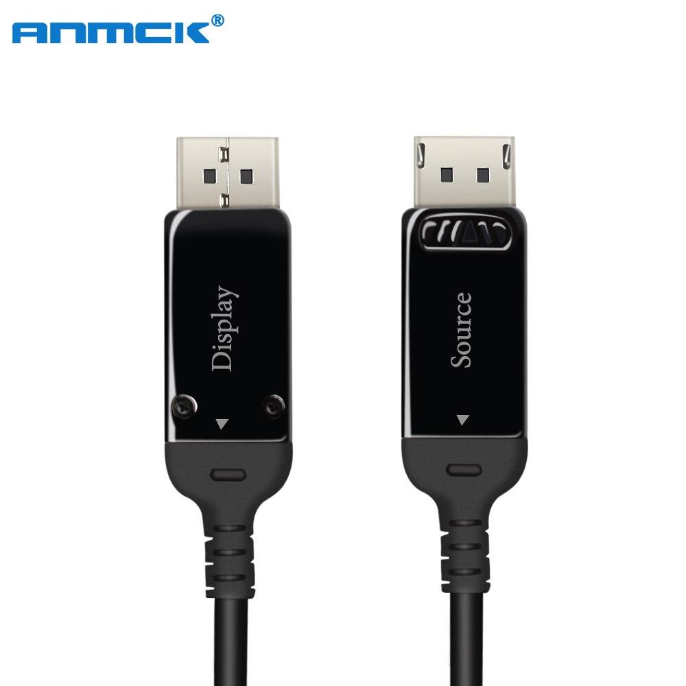 Câble à Fiber optique Anmck DP à DP 1.4 3m 5m 10m 20m 50m 8K @ 30Hz 4K @ 144Hz câbles DisplayPort 32.4Gbps DisplayPort 1.4 câble