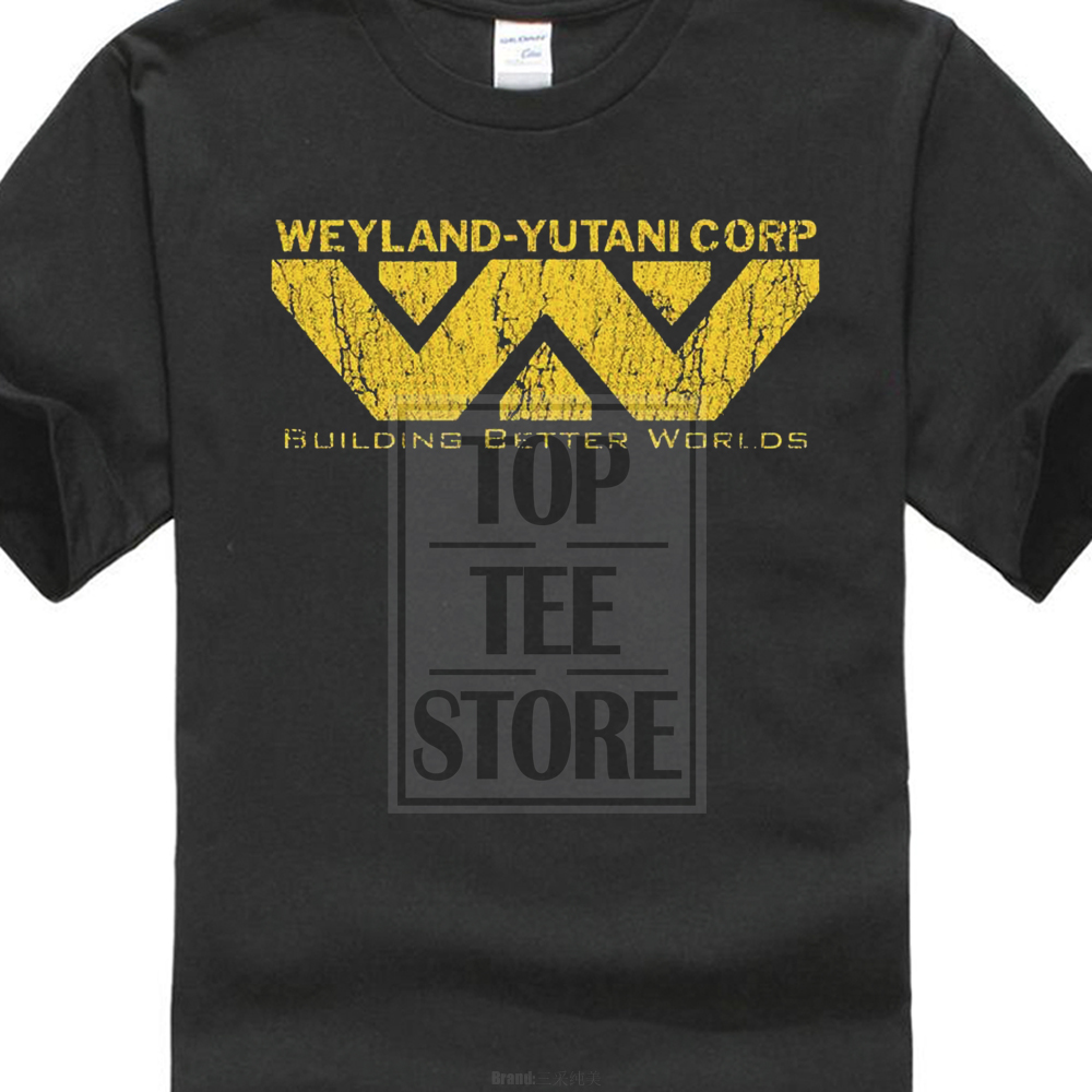 New 100% Cotton Funny Alien Weyland Yutani Corp   T     Shirt   Building Better Worlds Warrior Corp   T     Shirt   Hipster Tops Tees