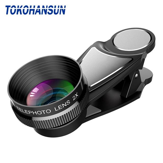 HD 2X telekonwerter soczewki teleskopu 65mm teleobiektyw Zoom obiektyw kamery telefonu dla Huawei p20 lite nova 3 wszystkich smartfonów