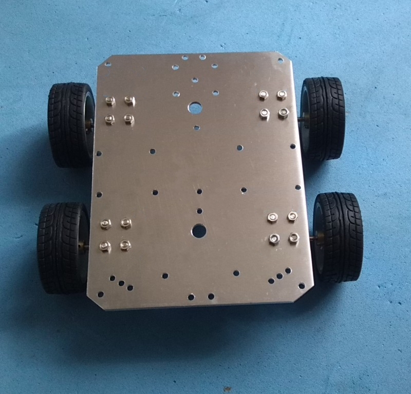 все цены на Smart car  25 mm motor  65 mm wheel aluminum alloy chassis robot chassis онлайн