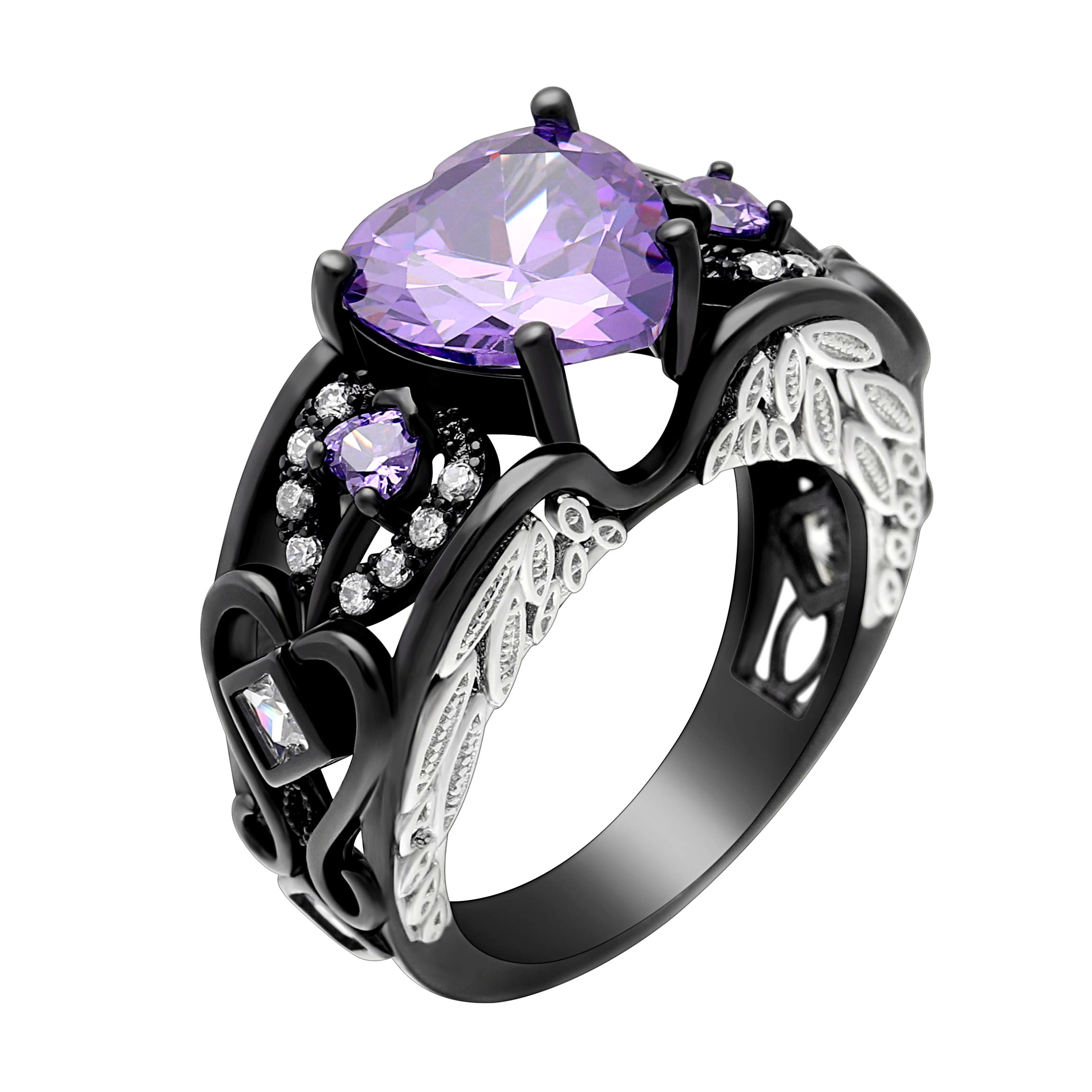 amethist watch light rings and gold rose engagement youtube sapphire pink ring diamond