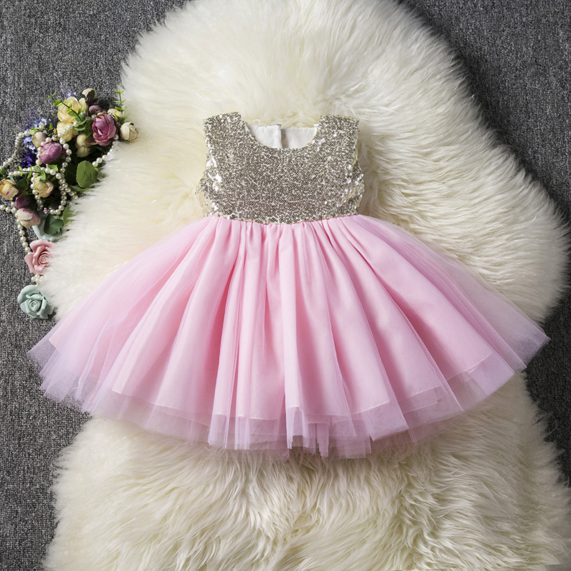 HTB15F50aNrvK1RjSszeq6yObFXaZ Princess Kids Baby Fancy Wedding Dress Sequins Formal Party Dress For Girl Tutu Kids Clothes Children Backless Designs Dresses