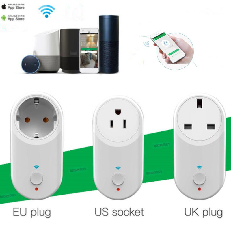 Smart Socket Plug WiFi Wireless Remote Socket Adaptor with Timer USB IOS/Android App Compatible with Alexa Google Home