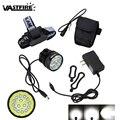 20000Lm светодиодная Передняя велосипедная лампа 15x XML T6 светодиодный велосипедный фонарь 3 режима фонарь + перезаряжаемый 8 4 в 6x18650 аккумулятор ...