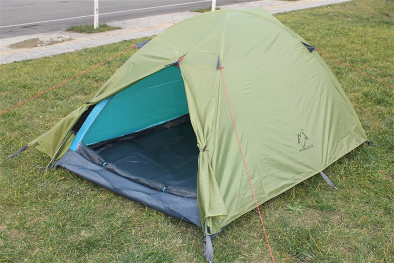 2 person double layer aluminum rod outdoor camping hiking tent  backpacking climbing tourism Waterproof tents F203 waterproof tourist tents 2 person outdoor camping equipment double layer dome aluminum pole camping tent with snow skirt