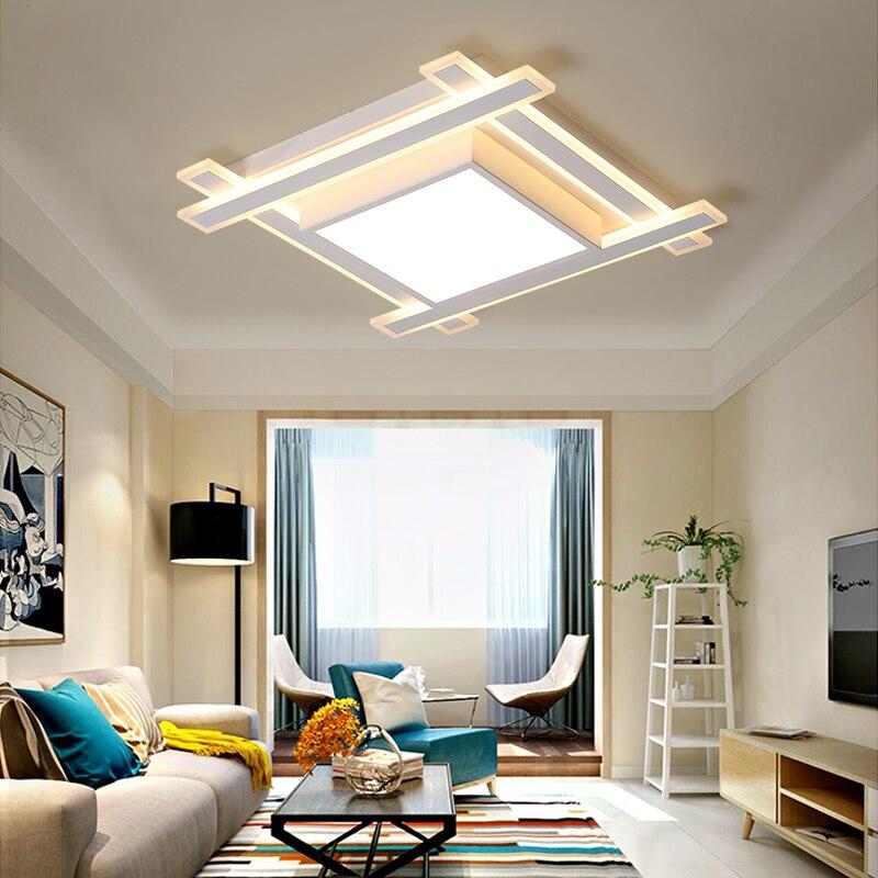 VEIHAO Modern acrylic LED ceiling light Overlapping frames large ...