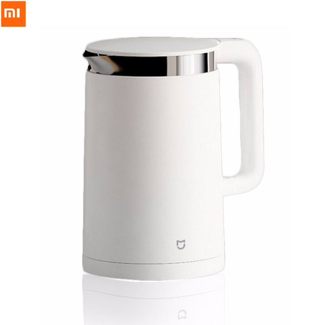 Xiaomi Mijia Thermostatic Electric Kettles 1.5L 12 Hours Thermostat kettle Smart Control by Mobile Phone App smart app control original xiaomi mijia 1 5l constant temperature electric water kettle 24 hour thermostat hot water maker