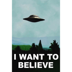 Hot Sale I Want To Believe Silk Fabric Cloth Poster Prints High Quality Picture Nice Movie Style Custom Silk Fabric Cloth Poster