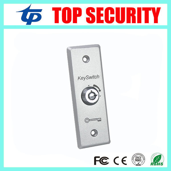 Door Access Exit Button With Emergency Key Zinc Alloy Emergency Exit Switch Door Release Button For Access Control System
