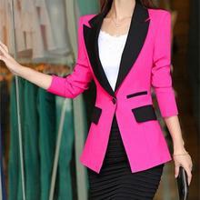 Blazer 2016 New Fashion Women Slim Coats Female Brand Pocket Design Long-sleeve
