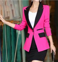 Blazer Feminino 2015 New Fashion Blazer Women Coats Quality Brand Design Long-sleeve Cardigans Women Blazers and Jackets Blaser цена в Москве и Питере