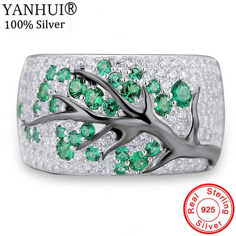 95% OFF! New Original 925 Sterling Silver Ring Fashion Vintage Jewelry Forest Tree Branch Leaves Rings Gift for Women KRA0698