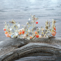 Baroque Crown Gold plated women Tiara crystal Queen Hair ornaments butterfly jewelry hairband Bridal Wedding Accessories Gifts