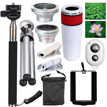 All in 1 Accessories Phone Camera Lens Top Travel Kit For Mobile Smart CellPhone(China)