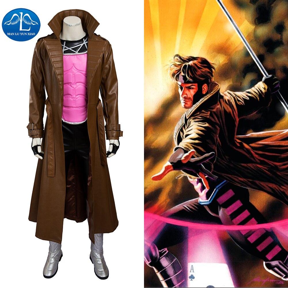 Gambit Cosplay Costume Adult Halloween Costumes For Men Superhero Costume X Men Avengers Cosplay Costume Gambit Suit Custom Made