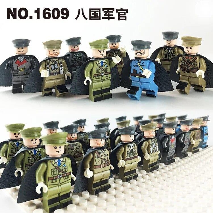 Spleißen Spielzeug Militär Mit Einem Mantel Stil Minifigs Kompatibel Mit Legoe Kleine Partikel Bausteine Spielzeug Für Kinder