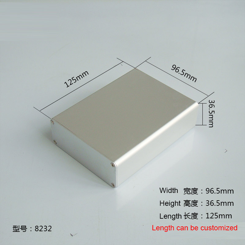 1 piece aluminum housing case for electronics project case 36.5(H)x96.5(W)x125(L) mm 8232 250 73 5 250 mm w h l control box aluminum extrusion enclosure for electronics electronics aluminum case housing project case