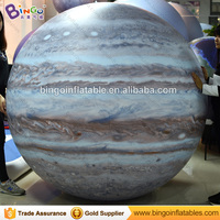 PVC Free delivery inflatable Jupiter sealed ball Inflatable Paintball Educational Toys with blower for Kid Education Outdoor toy