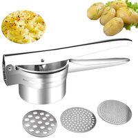 Aardappelstamper Manual Juicer Squeezer Pers Aardappel Babyvoeding Machine Multifunctionele Keuken Gereedschap met 3pcs Vervanging