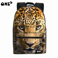 ONE2 Design Leopard Animal Nylon Polyester School Bag Laptop Backpack College Teenager Boys Girls University Students