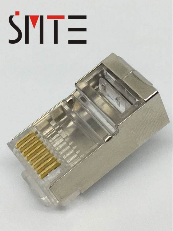 100PCS//LOT AMP High Quality Crystal shielded modular CAT.5e RJ45 Plug Connector