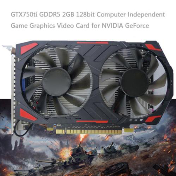 GTX750ti GDDR5 2GB 128bit PC Desktop Game Graphics Video Card for NVIDIA GDDR5-SCLL yeston sound free nvidia gt710 1g video card ultra hd gt710 1g ddr3 graphics card for desktop 2 years warranty