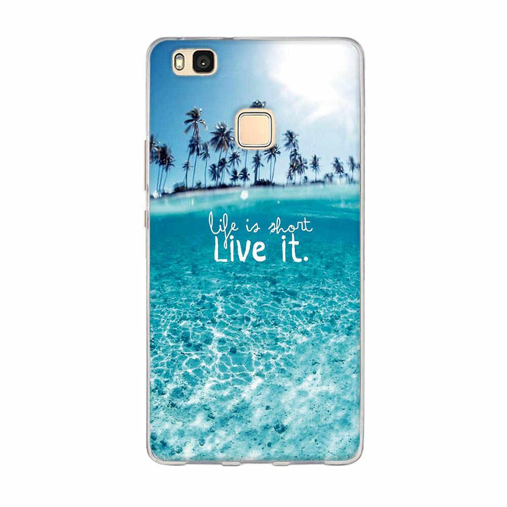 Huawei 社 P9 Lite 2016 ケースカバーソフトシリコン TPU Huawei 社 P9 Lite の裏表紙保護バッグ用 G9 lite 電話 Capa の Funda