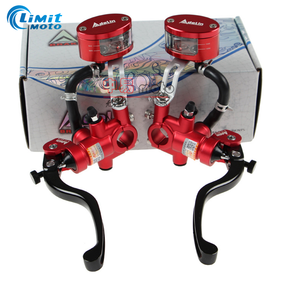 Adelin 16mm With multicolor oil cup tank Motorcycle Brake Clutch Master Cylinder Hydraulic Pump For Honda