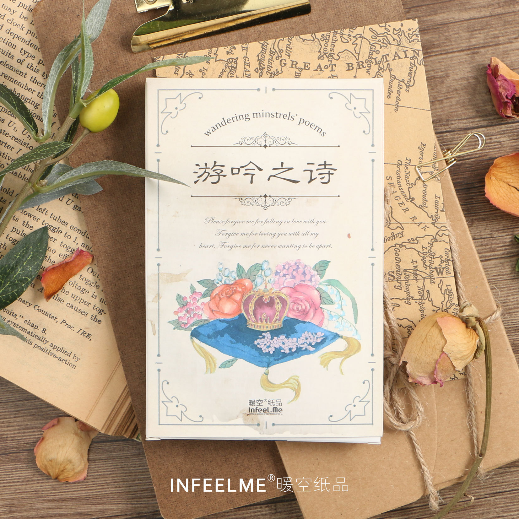 3 set/1 lot Retro poetry Greeting Card Postcards Birthday Bussiness Gift Card Set Message Card W-KP-1506