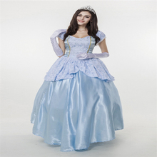 Halloween Cstumes Blue Court Dress Code Princess Sissi Fairy Tale Costume 290