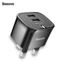Baseus Universal USB Charger UK Plug Double USB Travel Wall